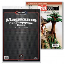 Pack of 100 BCW Clear Archival Magazine Poly Bags - 8 3/4 x 11
